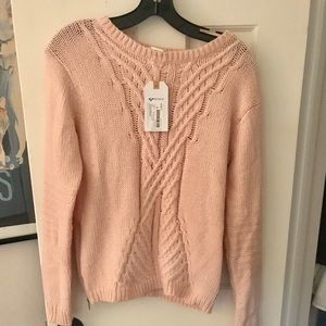 Roxy Cotton/Wool Blend Ribbed Sweater